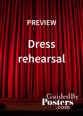 Dress rehearsal and hanging