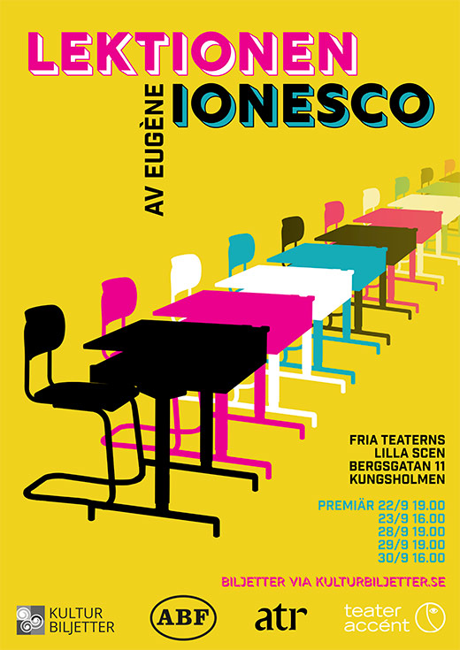 The Lesson by Eugene Ionesco poster